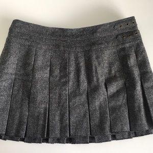 American Eagle Wool Pleated Mini Skirt